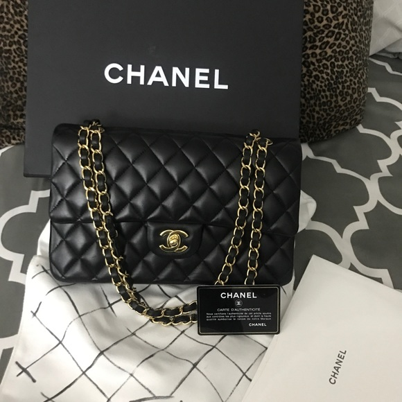 CHANEL Handbags - 2017 Chanel Double Flap Classic Bag black Medium
